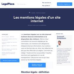 Les mentions légales d'un site internet (+ Modèle gratuit)