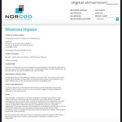 Mentions légales du site de Norcod