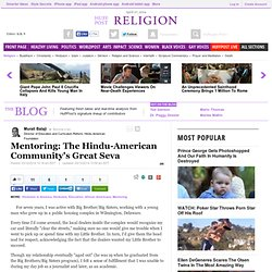Mentoring: The Hindu-American Community's Great Seva