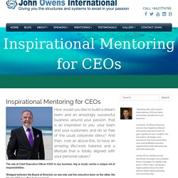 Mentoring and Coaching Programs for Executives & CEOs