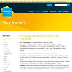 Program Manager Mentoring Program ›› Philanthropy Australia