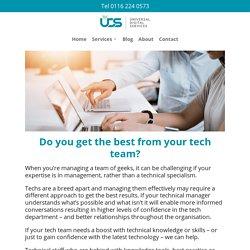 Tech Team Mentoring - Universal Digital Services Ltd