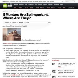 If Mentors Are So Important, Where Are They?