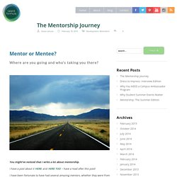 The Mentorship Journey