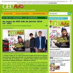 GEO Ado de janvier2016 (n°155)