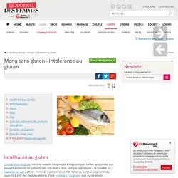 Menu sans gluten - Intolérance au gluten