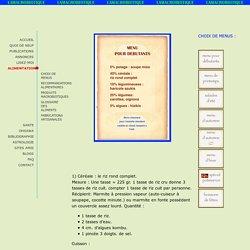 menu macrobiotique pour debutants