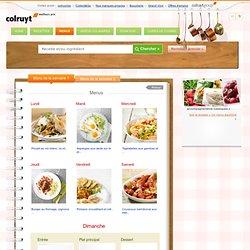Menu de la semaine 1 » Colruyt Culinair