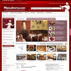 La guida ai ristoranti di Roma e Lazio. Tra colazione, pranzo o