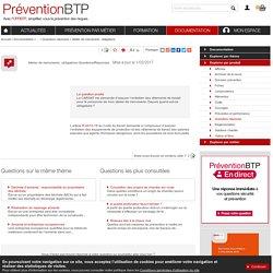 Atelier de menuiserie: obligations Prévention BTP