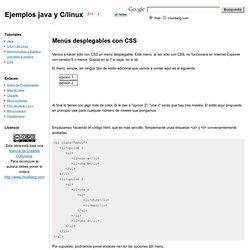 Menús desplegables con CSS