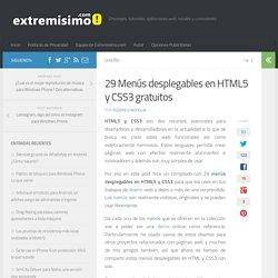 29 Menús desplegables en HTML5 y CSS3 gratuitos