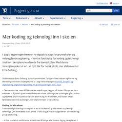 Mer koding og teknologi inn i skolen