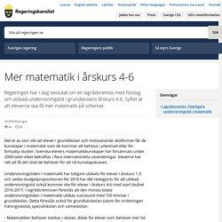 Mer matematik i årskurs 4-6