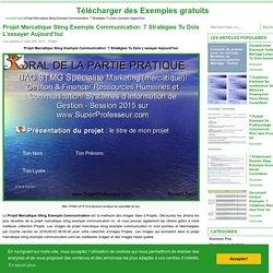 Term Stmg Cours Chap 5 La Démarche Mercatique Partie De La Projet Mercatique Stmg Exemple Communication - Télécharger des Exemples gratuits