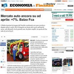 Mercato auto ancora su ad aprile: +7%. Balzo Fca