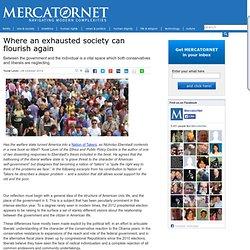 Where an exhausted society can flourish again