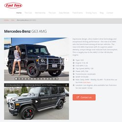 Mercedes-Benz G63 Luxury Sedan Rental in Los Angeles