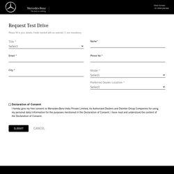 Mercedes Benz Test Drive in Delhi NCR - Silver Arrows