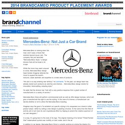 Mercedes-Benz: Not Just a Car Brand