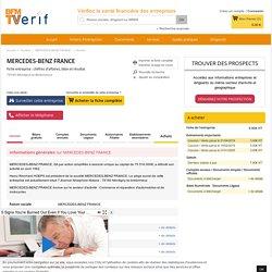 Société MERCEDES-BENZ FRANCE à Montigny-le-Bretonneux (Chiffre d'affaires, bilans, résultat) avec Verif.com - Siren 622044287