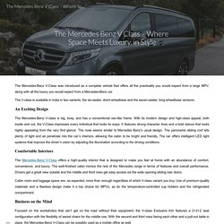 The Mercedes Benz V Class – Where Space Meets Luxury, in Style