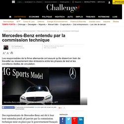 Mercedes-Benz entendu par la commission technique - 28 janvier 2016