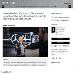 Mercedes-Benz signe sa huitième année record consécutive et conserve sa place de leader du segment premium