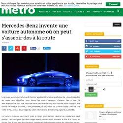 Mercedes-Benz invente une voiture autonome où on peut s'asseoir dos à la route