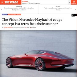 The Vision Mercedes-Maybach 6 coupe concept is a retro-futuristic stunner