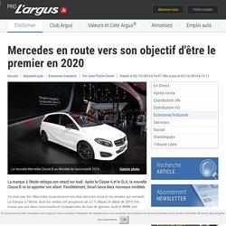 Mercedes en route vers son objectif d'être le premier en 2020 – L'argus PRO