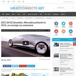 Mercedes présente la voiture autonome F015 au CES 2015 !