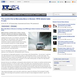 The world's first at Mercedes-Benz in Bremen: RFID detects leaks in cars