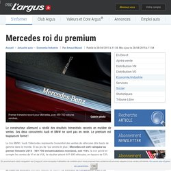 Mercedes roi du premium – L'argus PRO
