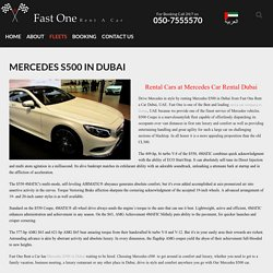 Mercedes S500 in Dubai Rental