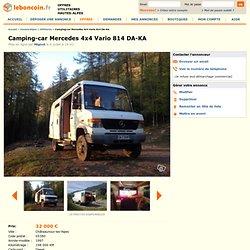 Camping-car Mercedes 4x4 Vario 814 DA-KA Utilitaires Hautes-Alpes