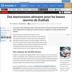 Mercenaires africains