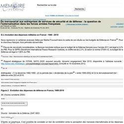 Du mercenariat aux entreprises de services de sécurité et de défense : la question de l'externalisation dans les forces armées françaises - François Le Gallic
