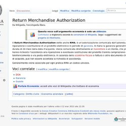 Return Merchandise Authorization - Wikipedia - Cyberfox