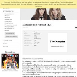 Merchandise Planner (h/f), THE KOOPLES, PARIS - FashionJobs.com France (#1889004)