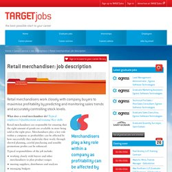 Retail merchandiser: job description