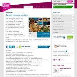 Retail merchandiser Job Information