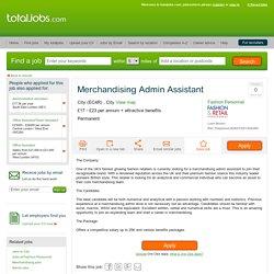 Merchandising Admin Assistant