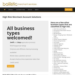 High Risk Merchant Account Solutions