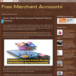 Know About Merchant Account Payment Gateway Solutions