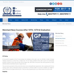 Merchant Navy Courses After 10th, 12th and Graduation - TMA