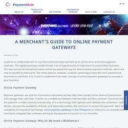 A Merchant's Guide to Online Payment Gateways