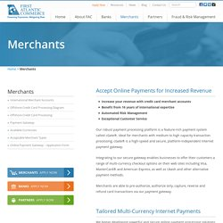 Merchant Services Account Provider and Credit Card Processing