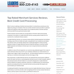 Merchant Services Reviews