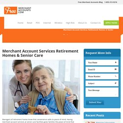 Merchant Account Services Retirement Homes & Senior Care